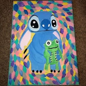 STITCH & FROG CANVAS PAINTING